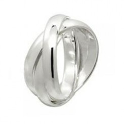Sterling Silver Lovers Rings Set Of 2
